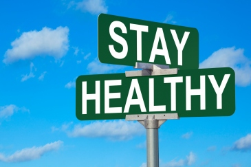 Stay Healthy Street Sign